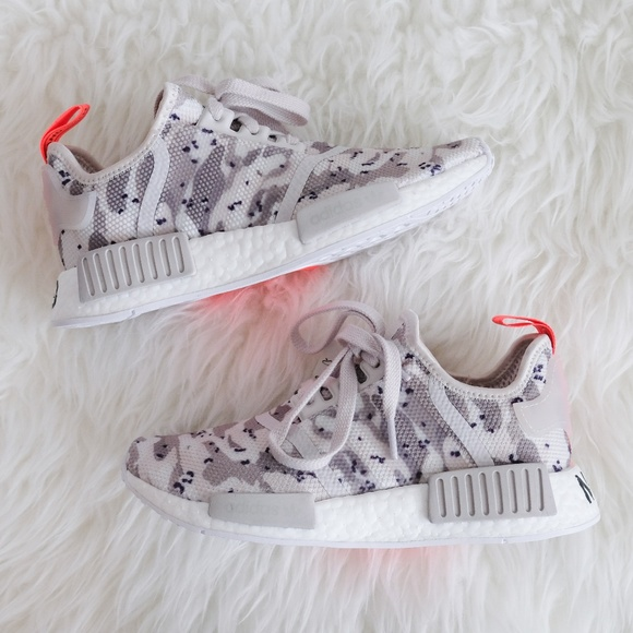 b83582a3797f8 adidas Originals NMD R1 Camo Chalk White Solar Red